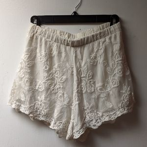 LA Hearts white lace short from pacsun